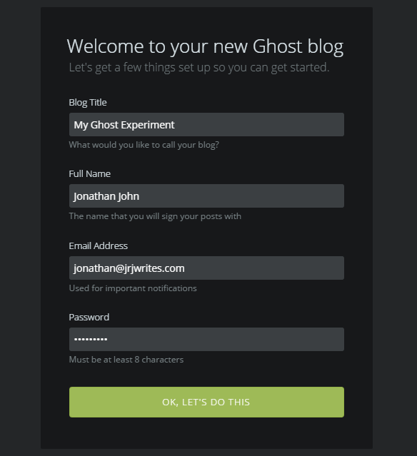 New-Ghost-Blog