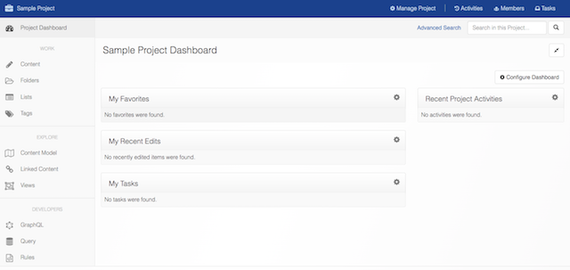 Cloud CMS Project Dashboard